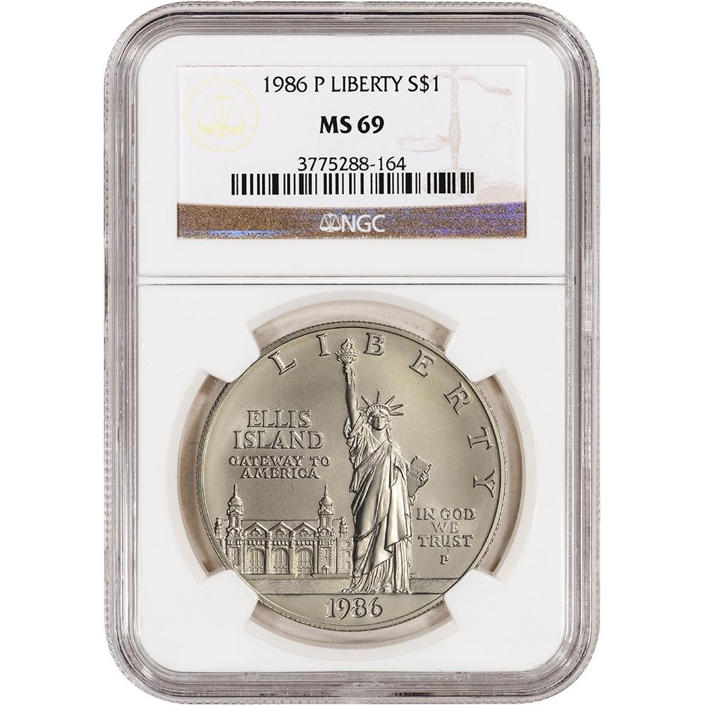 1986-P Statue of Liberty Commemorative BU Silver Dollar