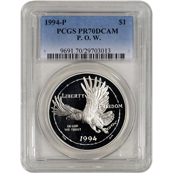 1994-P US Prisoner of War Commemorative Proof Silver Dollar - PCGS PR70 DCAM