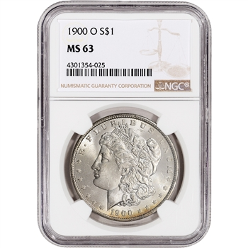 1900-O US Morgan Silver Dollar $1 - NGC MS63