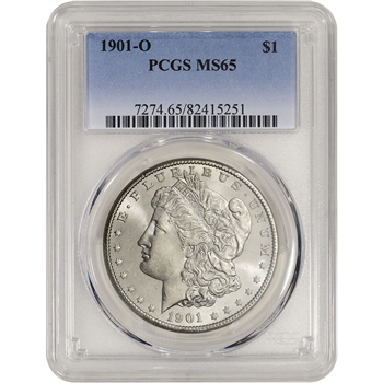 1901-O US Morgan Silver Dollar $1 - PCGS MS65