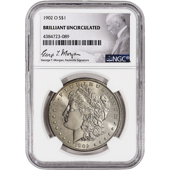 1902-O US Morgan Silver Dollar $1 - NGC Brilliant Uncirculated