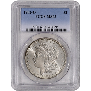 1902-O US Morgan Silver Dollar $1 - PCGS MS63