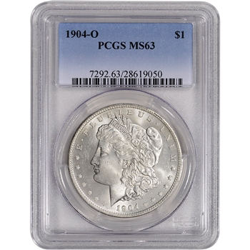 1904-O US Morgan Silver Dollar $1 - PCGS MS63