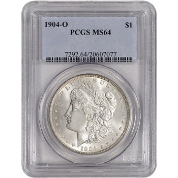 1904-O US Morgan Silver Dollar $1 - PCGS MS64