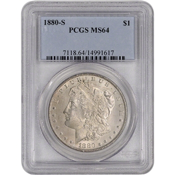 1880-S US Morgan Silver Dollar $1 - PCGS MS64