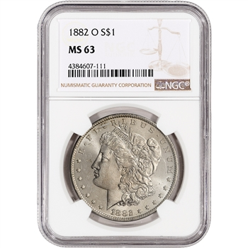 1882-O US Morgan Silver Dollar $1 - NGC MS63