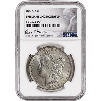 1883-O US Morgan Silver Dollar $1 - NGC Brilliant Uncirculated