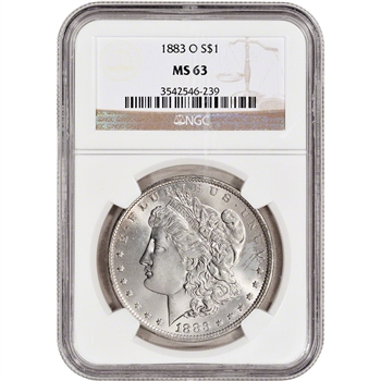 1883-O US Morgan Silver Dollar $1 - NGC MS63