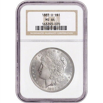 1883-O US Morgan Silver Dollar $1 - NGC MS64