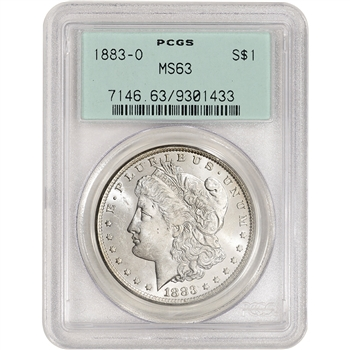 1883 O US Morgan Silver Dollar $1 - PCGS MS63 Green Label
