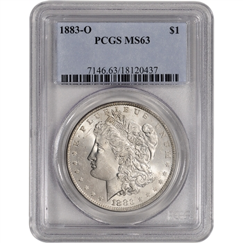 1883-O US Morgan Silver Dollar $1 - PCGS MS63