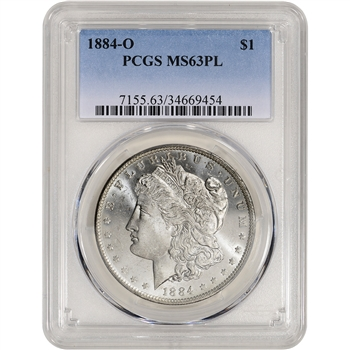 1884-O US Morgan Silver Dollar $1 - PCGS MS63 PL