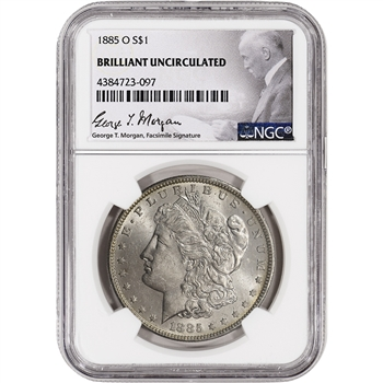 1885-O US Morgan Silver Dollar $1 - NGC Brilliant Uncirculated