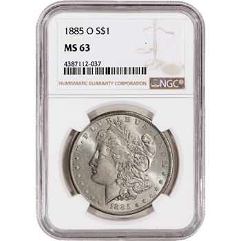 1885-O US Morgan Silver Dollar $1 - NGC MS63