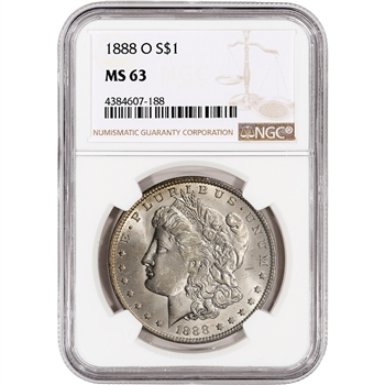 1888-O US Morgan Silver Dollar $1 - NGC MS63