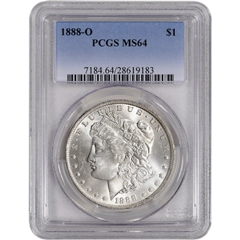 1888-O US Morgan Silver Dollar $1 - PCGS MS64