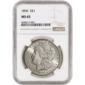 1896 US Morgan Silver Dollar $1 - NGC MS65