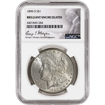 1898-O US Morgan Silver Dollar $1 - NGC Brilliant Uncirculated