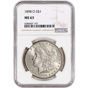 1898-O US Morgan Silver Dollar $1 - NGC MS63