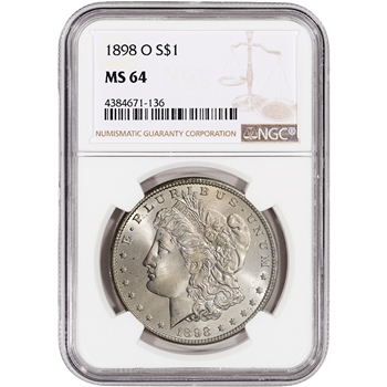 1898-O US Morgan Silver Dollar $1 - NGC MS64