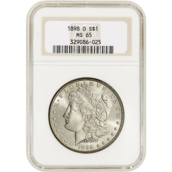 1898-O US Morgan Silver Dollar $1 - NGC MS65