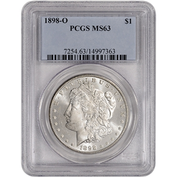1898-O US Morgan Silver Dollar $1 - PCGS MS63