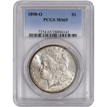 1898-O US Morgan Silver Dollar $1 - PCGS MS65