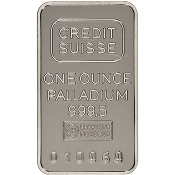 1 oz. Credit Suisse 999.5 Palladium Bullion Bar