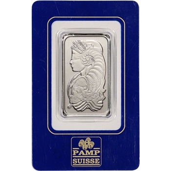 1 oz. Palladium Bar - PAMP Suisse - Fortuna - 999.5 Fine in Vintage Sealed Assay