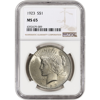 1923 US Peace Silver Dollar $1 - NGC MS65