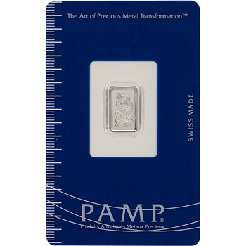 1g PAMP Suisse Fortuna 999.5 Platinum Bar in Assay
