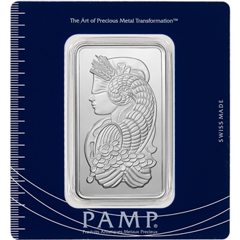 100 gram Silver Bar - PAMP Suisse - Fortuna - .999 Fine in Assay