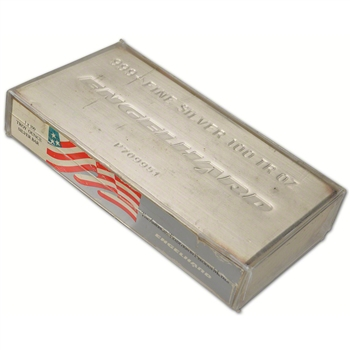 100 oz. Silver Bar - Engelhard (Extruded) .999 Fine Sealed in Original Plastic