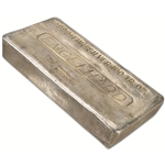 100 oz. Silver Bar - Engelhard (Poured) .999 Fine