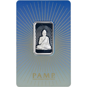 10 gram Silver Bar - PAMP Suisse - Buddha - .999 Fine in Sealed Assay