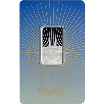 10 gram Silver Bar - PAMP Suisse - Mecca - .999 Fine in Sealed Assay