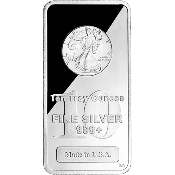 10 oz. Highland Mint Silver Bar - Walking Liberty Design .999+ Fine