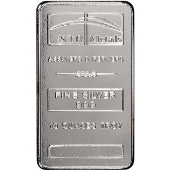 10 oz. Silver Bar - NTR .999 Fine