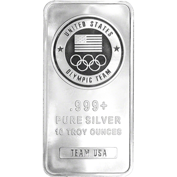 10 oz. Silver Bar - United States Olympic Committee Team USA - 999 Fine - Sealed