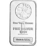 1 oz. Highland Mint Silver Bar - Walking Liberty Design .999+ Fine