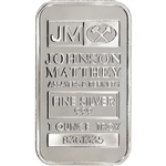 1 oz. JM Silver Bar - Johnson Matthey .999 Fine - Sealed New w/ Serial #