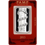 1 oz. Silver Bar - PAMP Suisse - Lunar Year of the Snake - .999 Fine in Assay