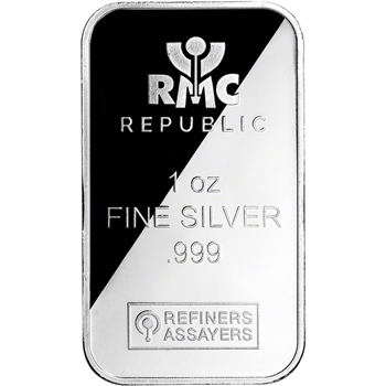1 oz. RMC Silver Bar - Republic Metals Corp .999 Fine