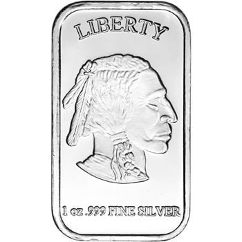 1 oz. SilverTowne Silver Bar - Buffalo Design - 999 Fine