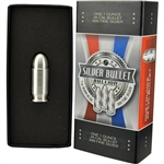 1 oz Silver Bullet .45 Caliber - .999 Fine in Gift Box