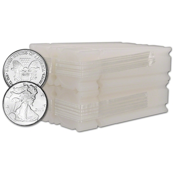 200-pc. Silver 1/10 oz. Round - Liberty Design - Four Rolls of FIFTY (50)