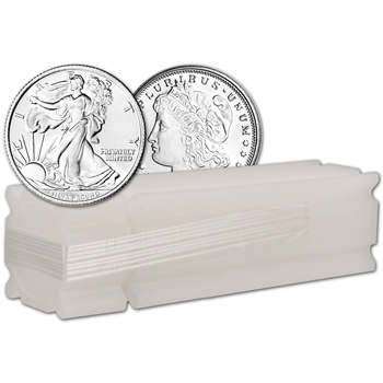 1/4 oz. Silver Round - Random Brand - Secondary Market - .999 Fine Tube of 25