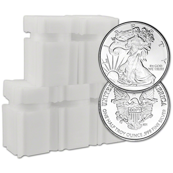 100pc 1/2 oz Highland Mint Silver Round Walking Liberty .999 5 Rolls Tubes of 20