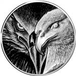 10 oz. CIT Mint Silver Round Majestic Eagle High Relief .999 Fine in Capsule