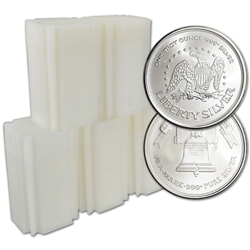 100-pc. 1 oz. Silver Round - A-Mark Liberty .999+ Fine - AMARK - 5 Rolls of 20